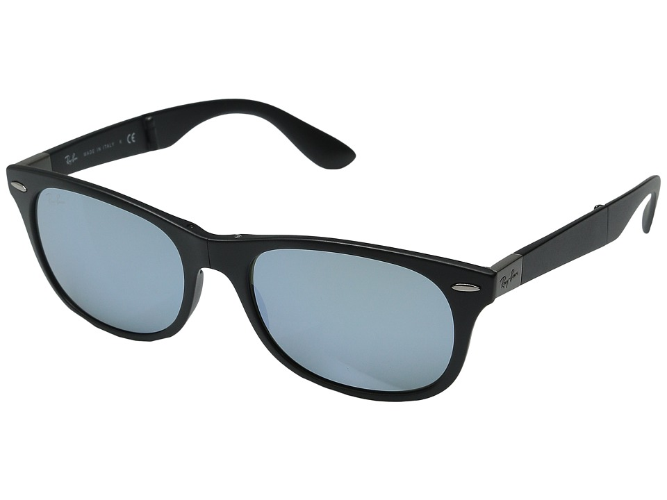 Ray-Ban - RB4223-Folding Lite Force Tech (Matte Black/Green Mirror Silver) Fashion Sunglasses