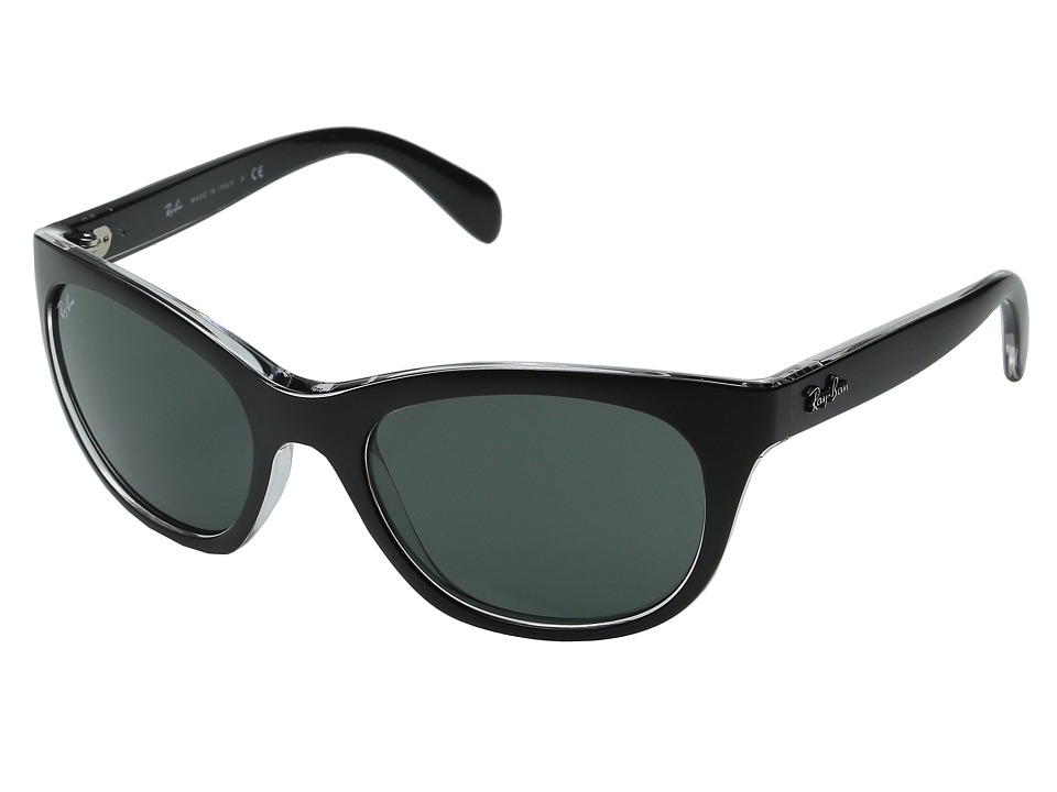 Ray-Ban - RB4216 56mm (Top Matte Black/Green) Fashion Sunglasses