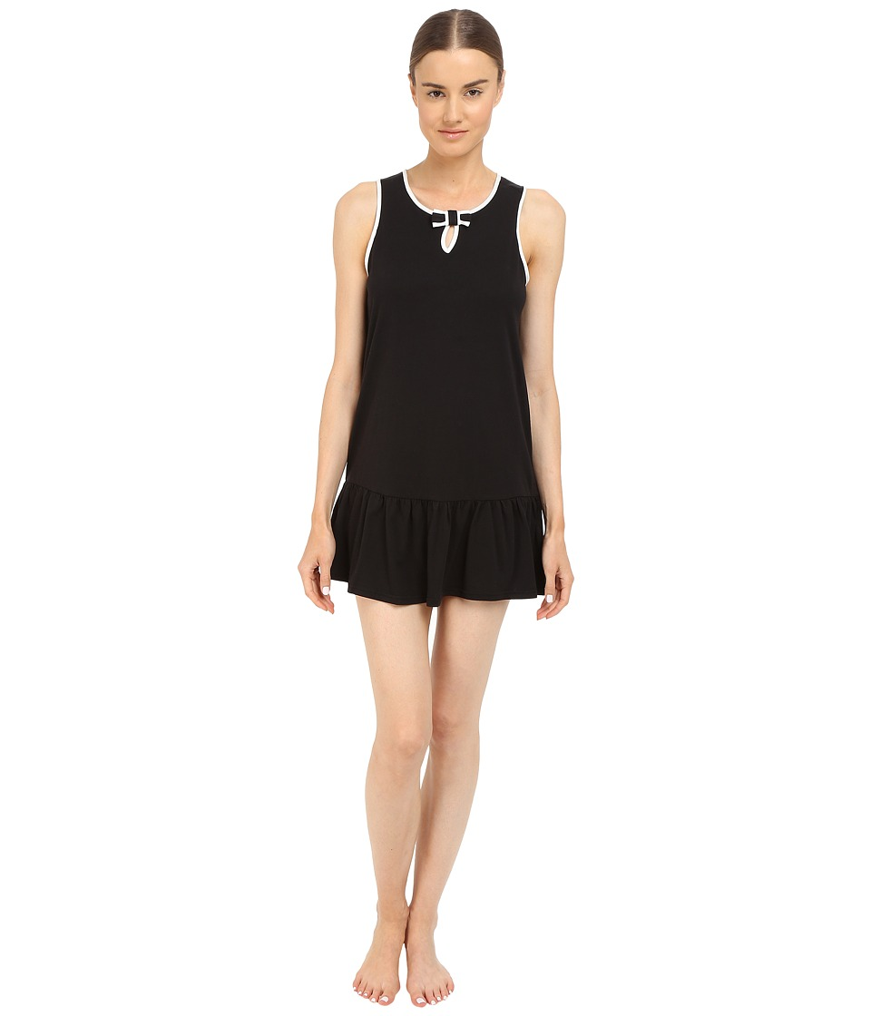Kate Spade New York - Cotton/Modal Chemise (Black) Women's Pajama