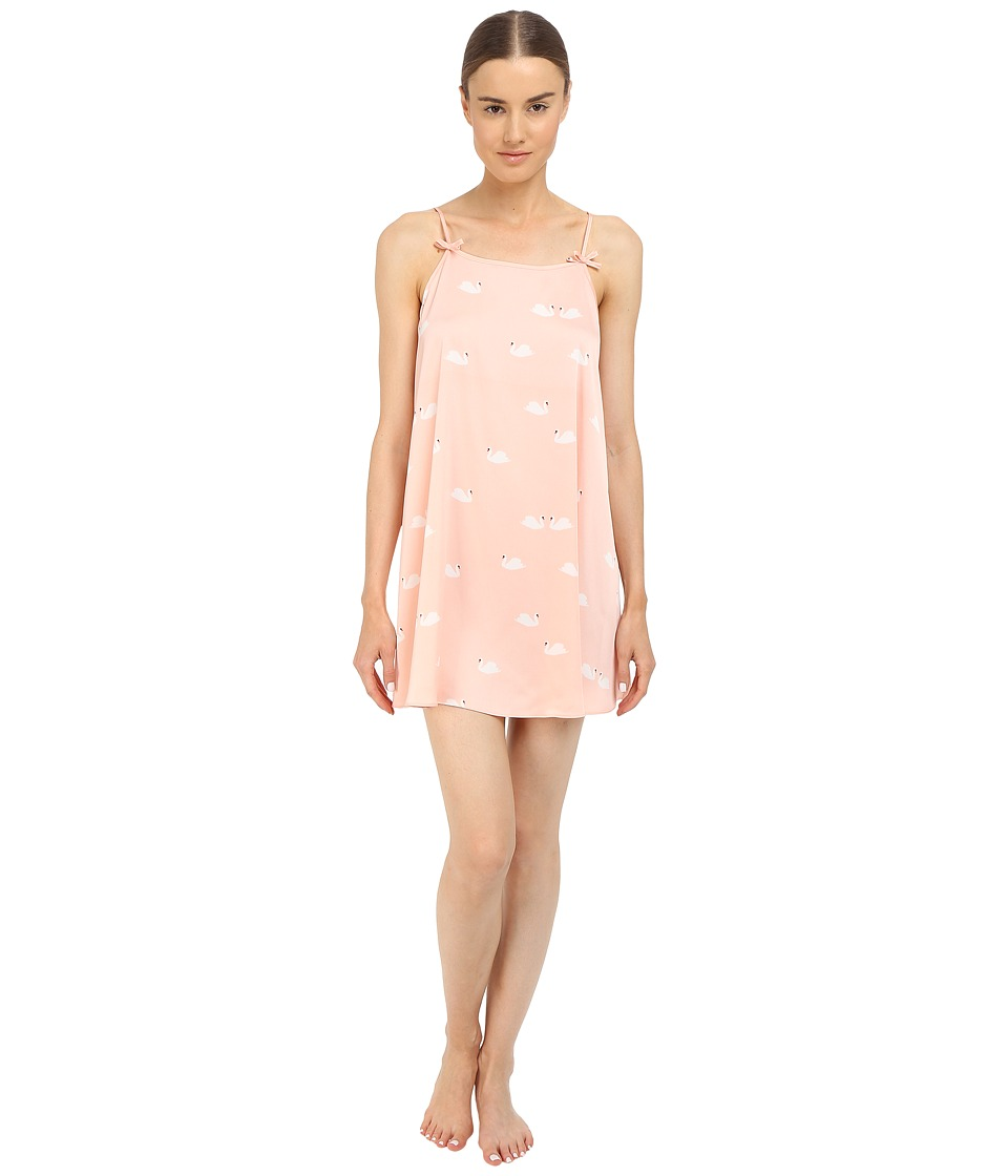 Kate Spade New York - Charmeuse Chemise (Lady Swans) Women's Pajama