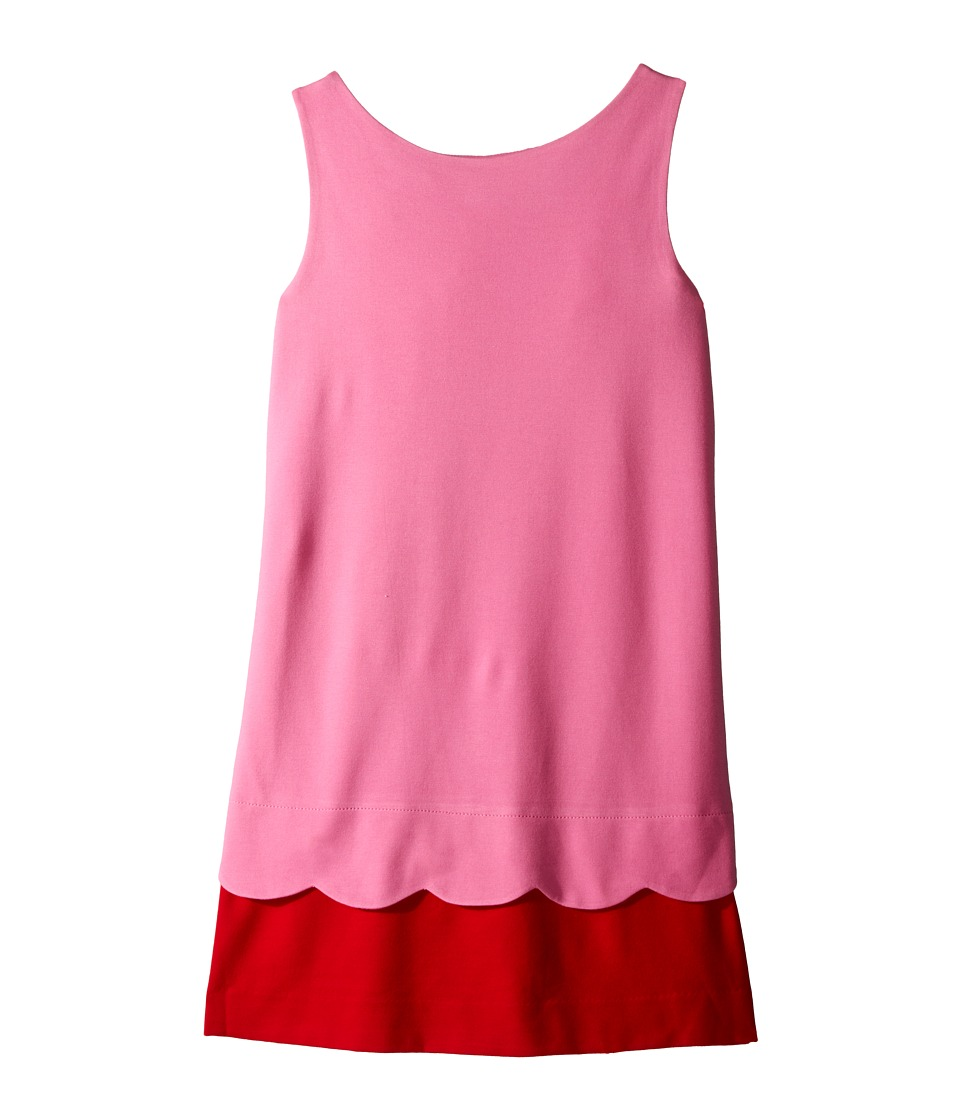 Kate Spade New York Kids - Bow Back Scallop Dress (Big Kids) (Carousel Pink/Posey Red) Girl's Dress