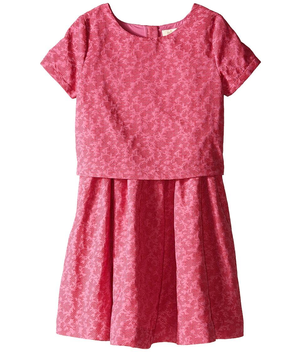 Kate Spade New York Kids - Jacquard Dress (Big Kids) (Carousel Pink/Posey Red) Girl's Dress