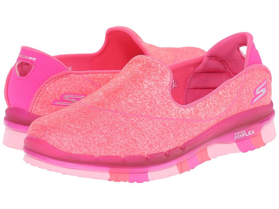 SKECHERS KIDS - Go Flex 81078L (Little Kid/Big Kid) (Hot Pink) Girl's Shoes