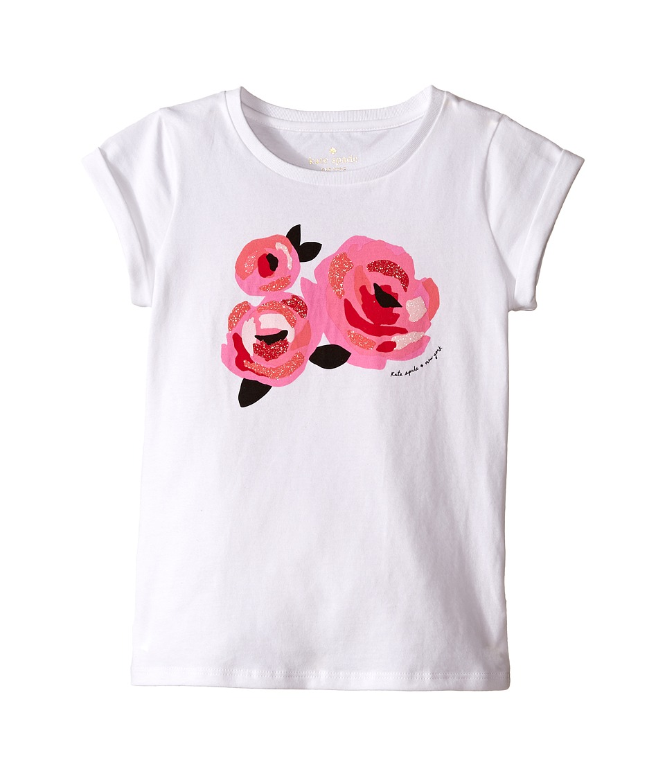 Kate Spade New York Kids - Rose Tee (Toddler/Little Kids) (Fresh White) Girl's T Shirt