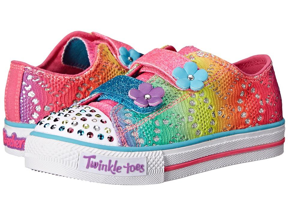 SKECHERS KIDS - Twinkle Toes - Shuffles 10626N Lights (Toddler/Little Kid) (Multi) Girl's Shoes
