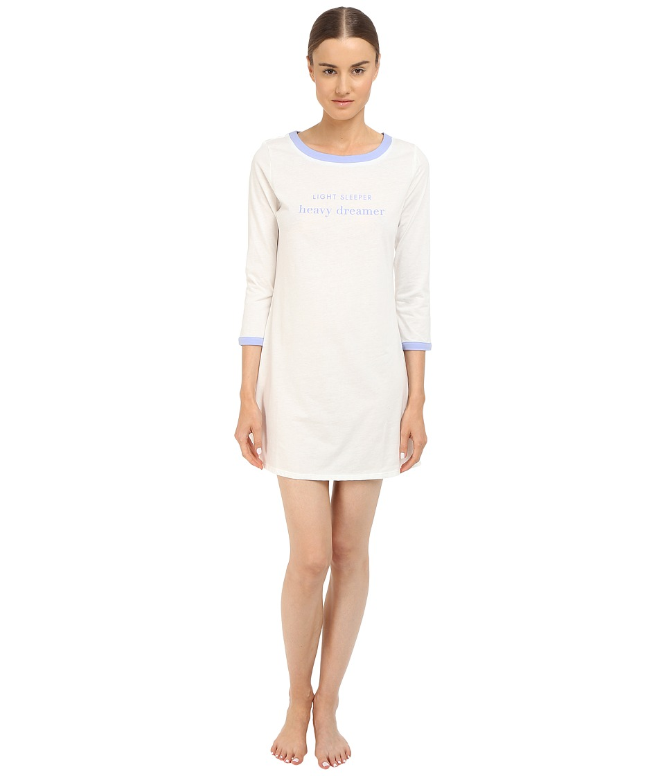 Kate Spade New York - Light Sleeper Heavy Dreamer Sleep Shirt (Off White) Women's Pajama