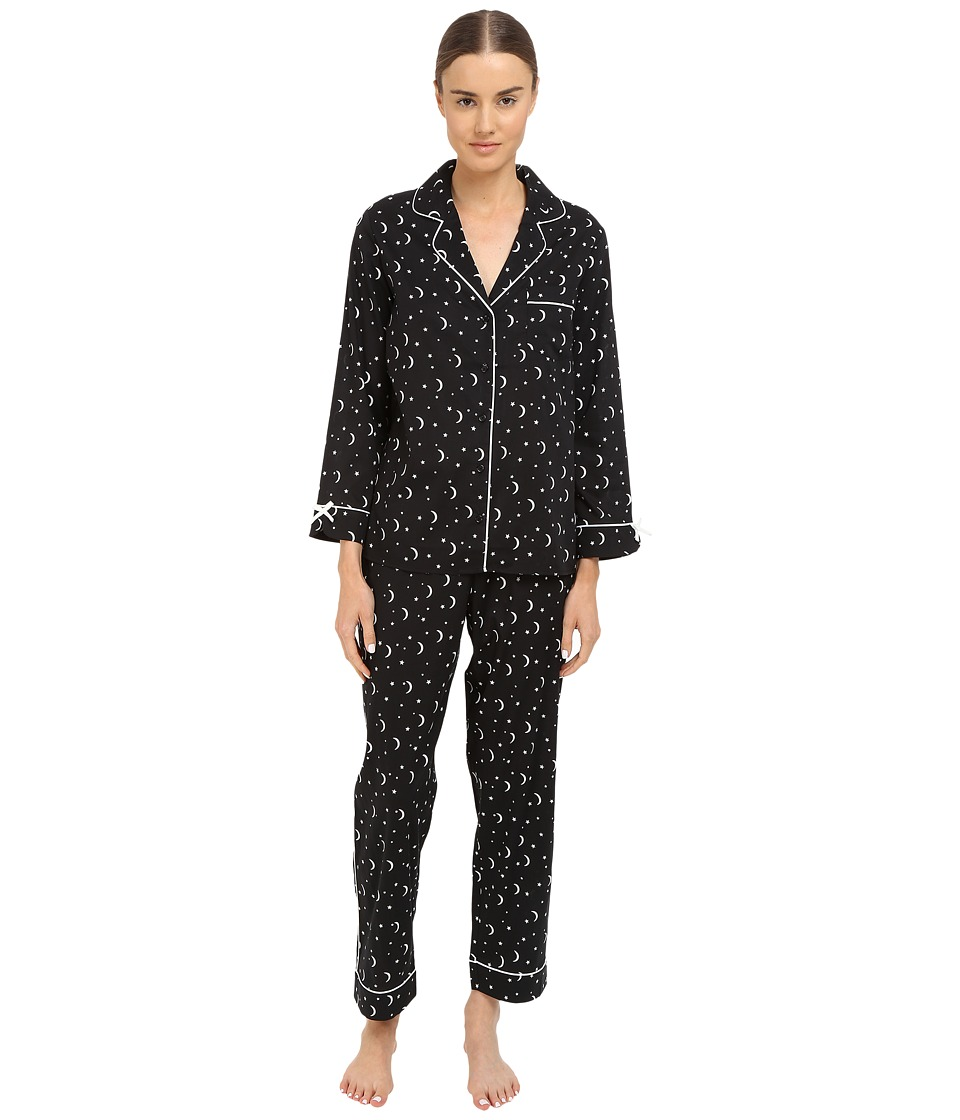 Kate Spade New York - Lawn Long Notch Collar PJ Set (Stars/Moons) Women's Pajama Sets