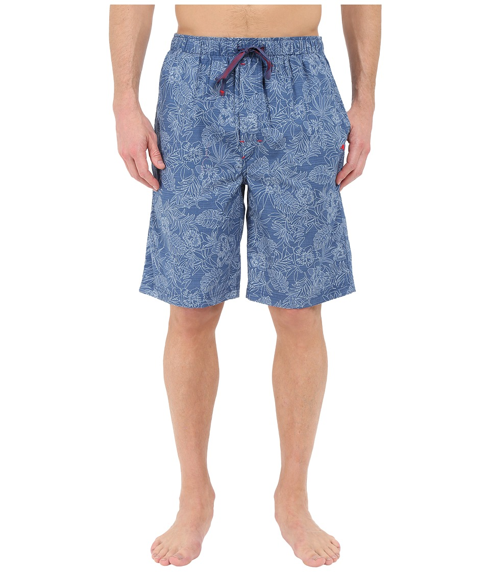 Tommy Bahama - Island Washed Cotton Woven Jam Shorts (Tonal Palm/Navy/Floral) Men's Pajama