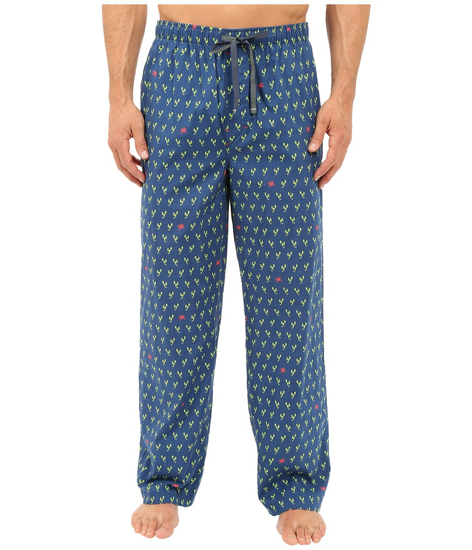 Tommy Bahama - Island Washed Cotton Woven Pants (Lobster Claw/Blue/Red) Men's Pajama