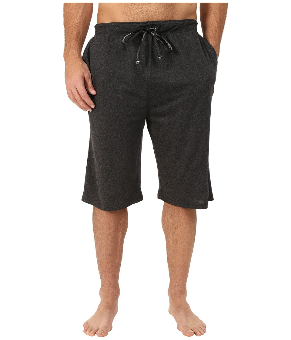 Tommy Bahama - Big Tall Heather Cotton Modal Knit Jam Shorts (Black Heather) Men's Pajama