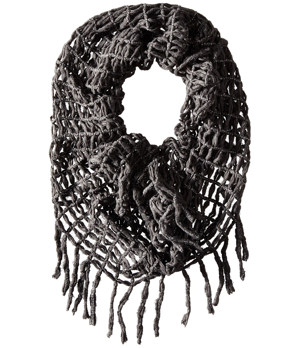 Steve Madden - Lurex Rag A Muffin Infinity (Charcoal) Scarves