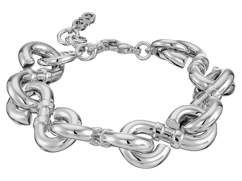 Cole Haan - Logo Link Line Bracelet (Light Rhodium) Bracelet