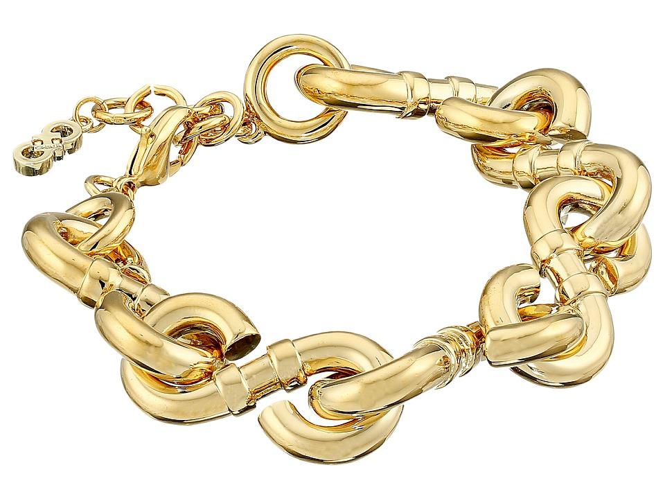 Cole Haan - Logo Link Line Bracelet (Gold) Bracelet