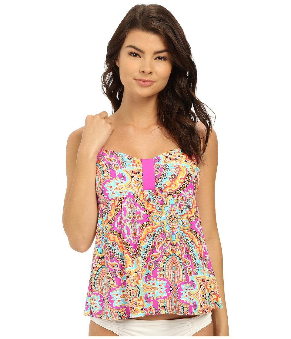 Athena - Spice Market Babydoll Tankini Top (Multi) Women's Swimwear