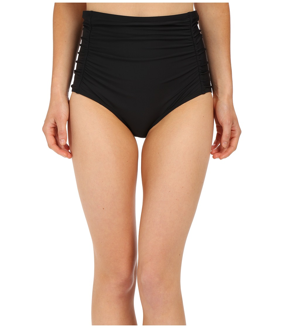 Athena - Cabana Solids High Waist Bottom (Black) Women's Swimwear