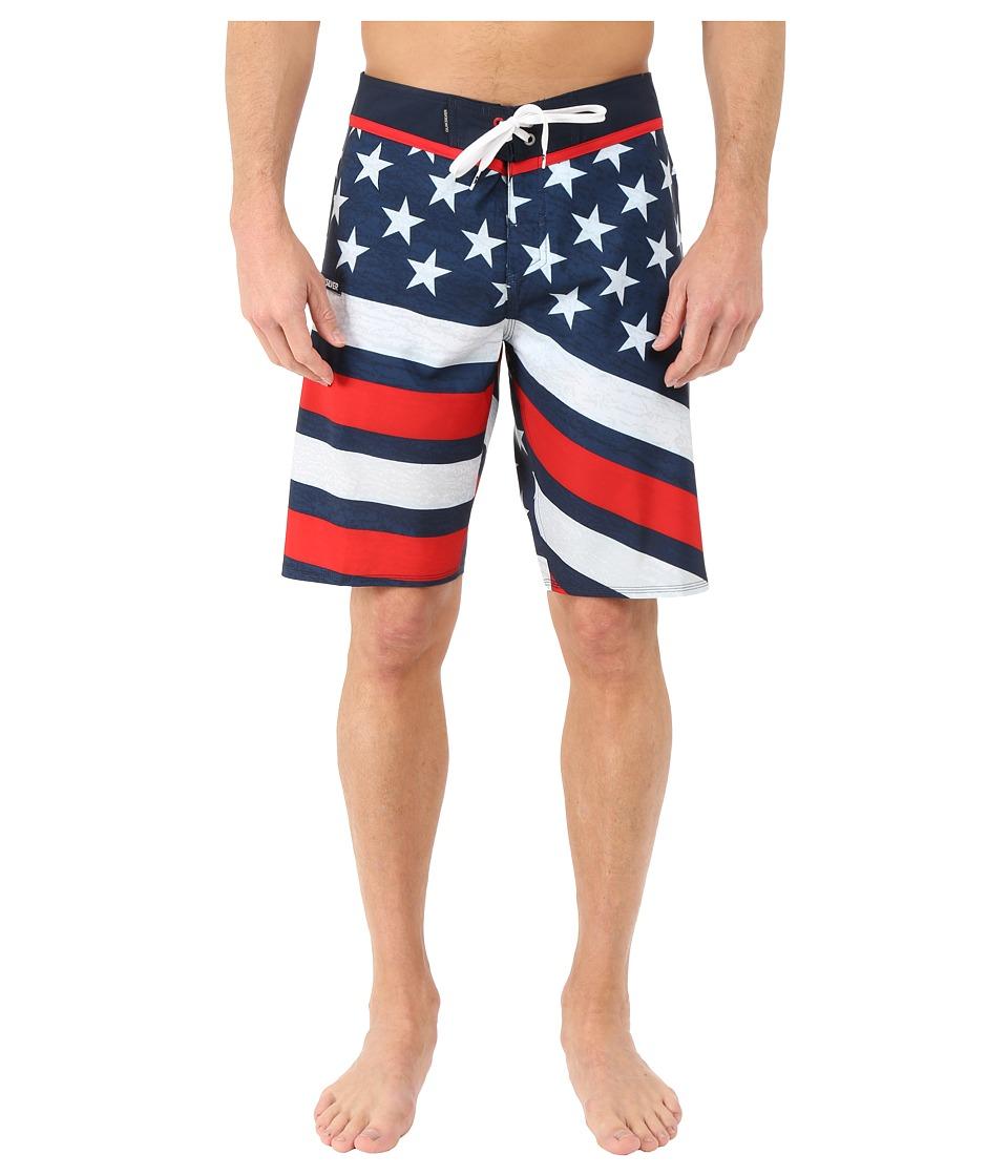 Quiksilver - 4th of July Luau 21 Boardshorts (Navy Blazer) Men's Swimwear