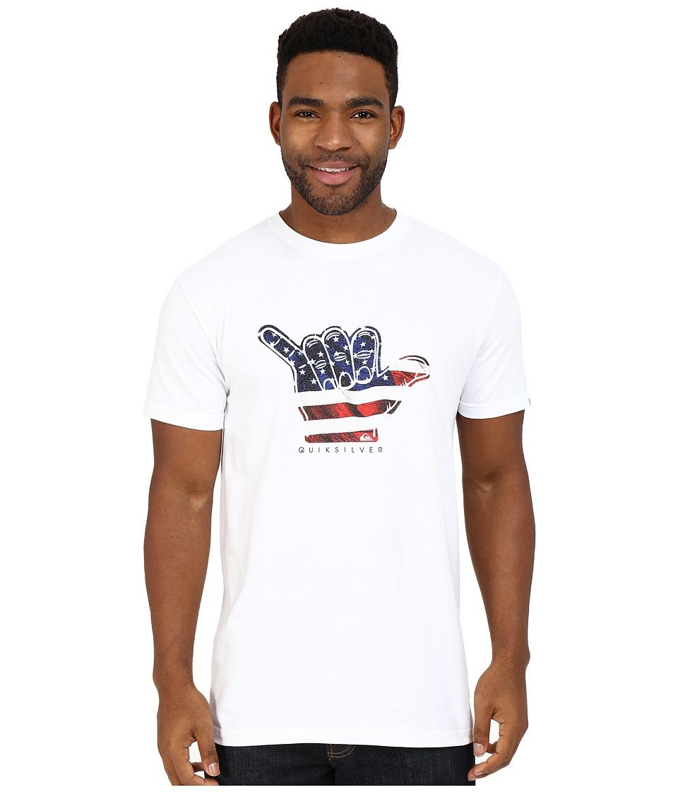 Quiksilver - Brah U.S.A. Tee (White) Men's T Shirt