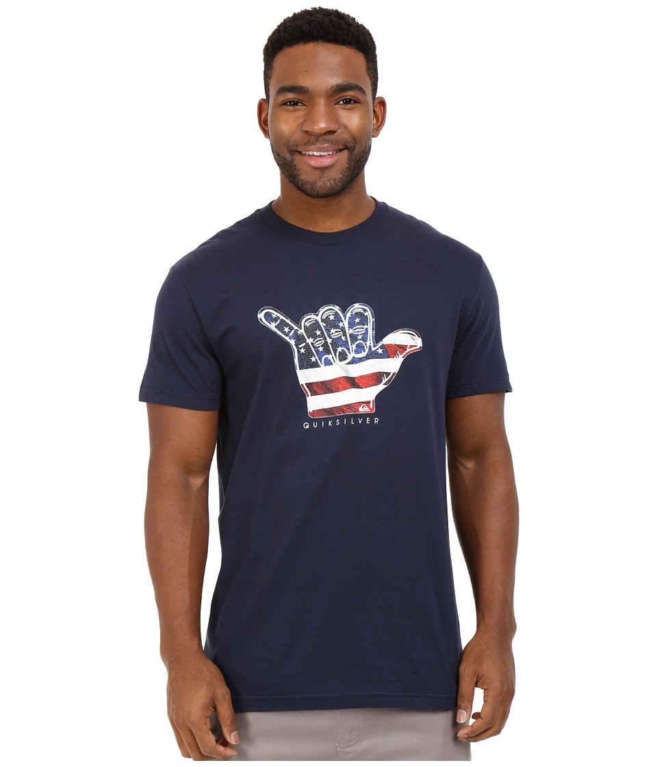Quiksilver - Brah U.S.A. Tee (Navy Blazer) Men's T Shirt