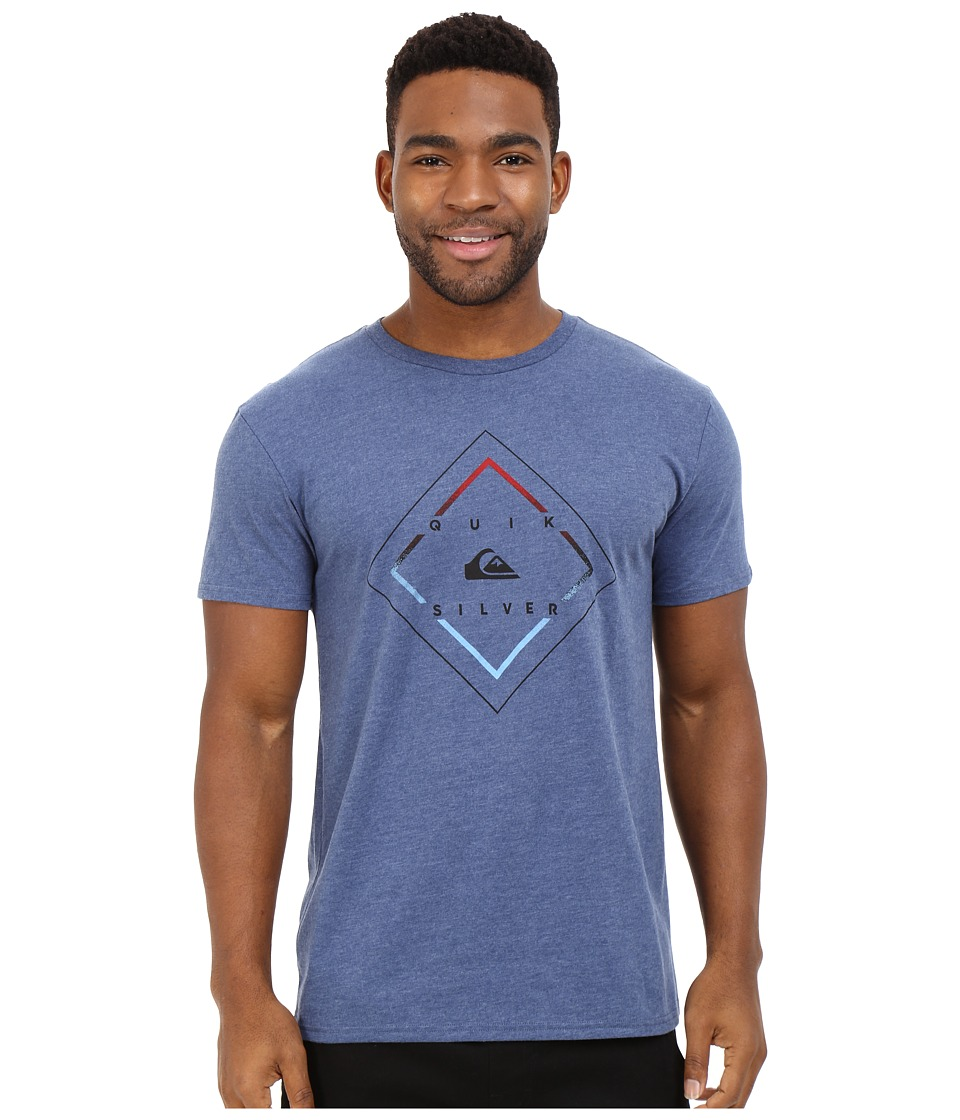 Quiksilver - D Day Tee (Dark Denim Heather) Men's T Shirt