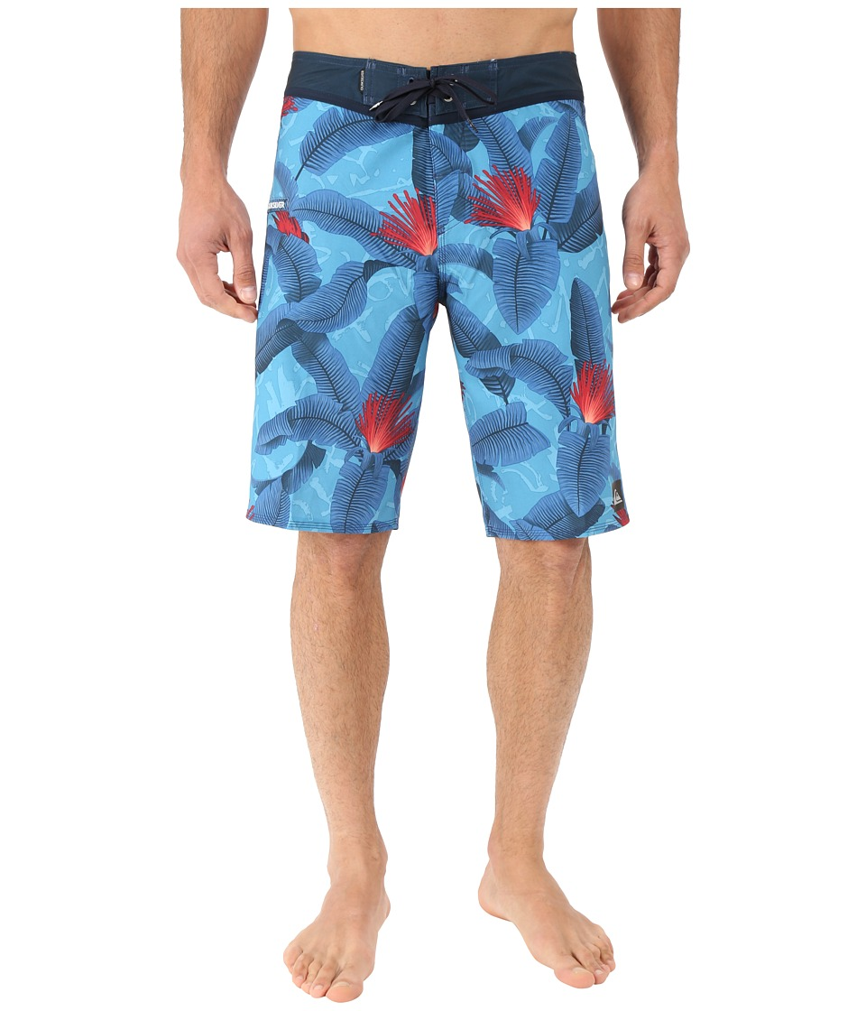 Quiksilver - Glitched 21 Boardshorts (Dark Denim) Men's Swimwear