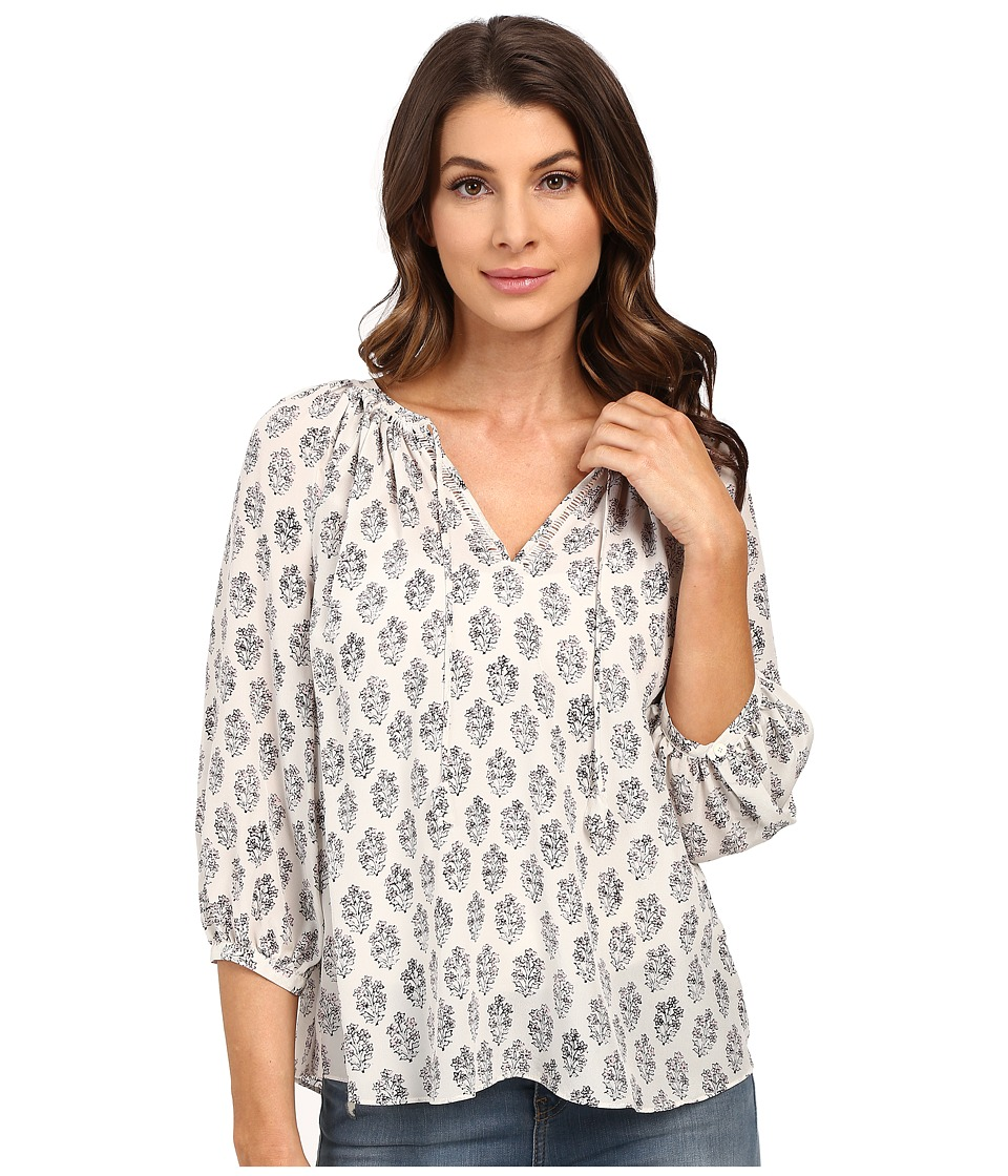 Rebecca Taylor - Long Sleeve Valentina Top (Black/White) Women's Blouse
