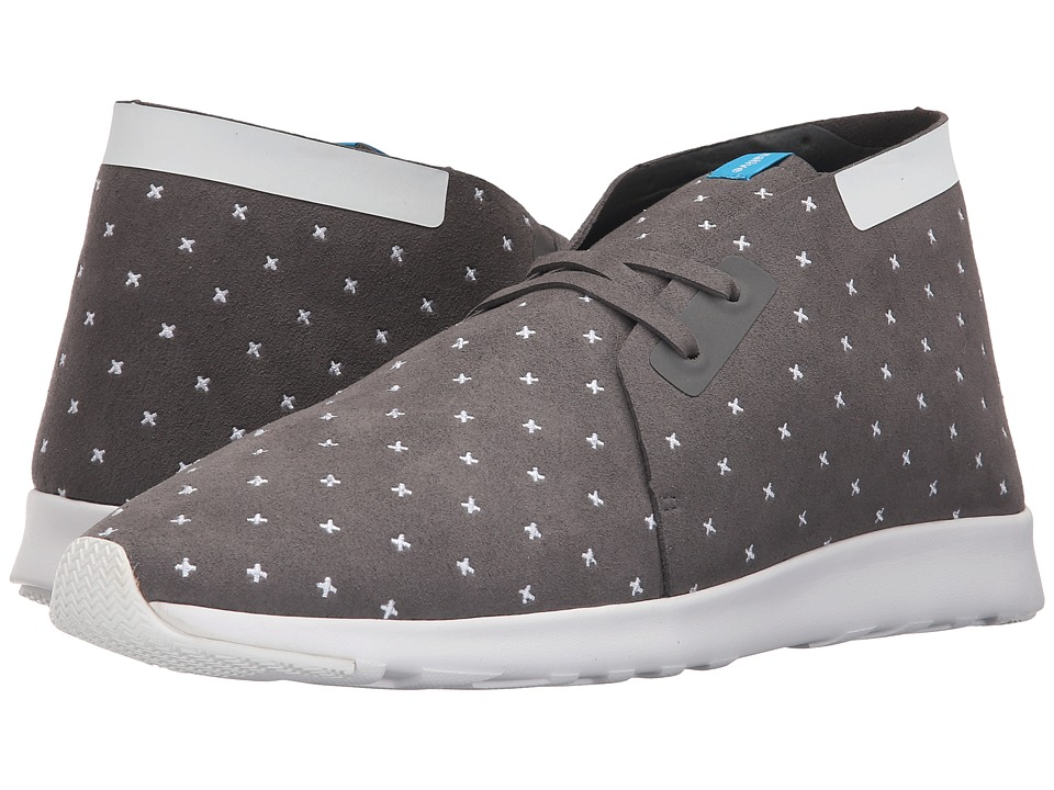 Native Shoes - Embroidered Apollo Chukka (Dublin Grey/Shell White/Shell Rubber/Embroidered) Slip on Shoes