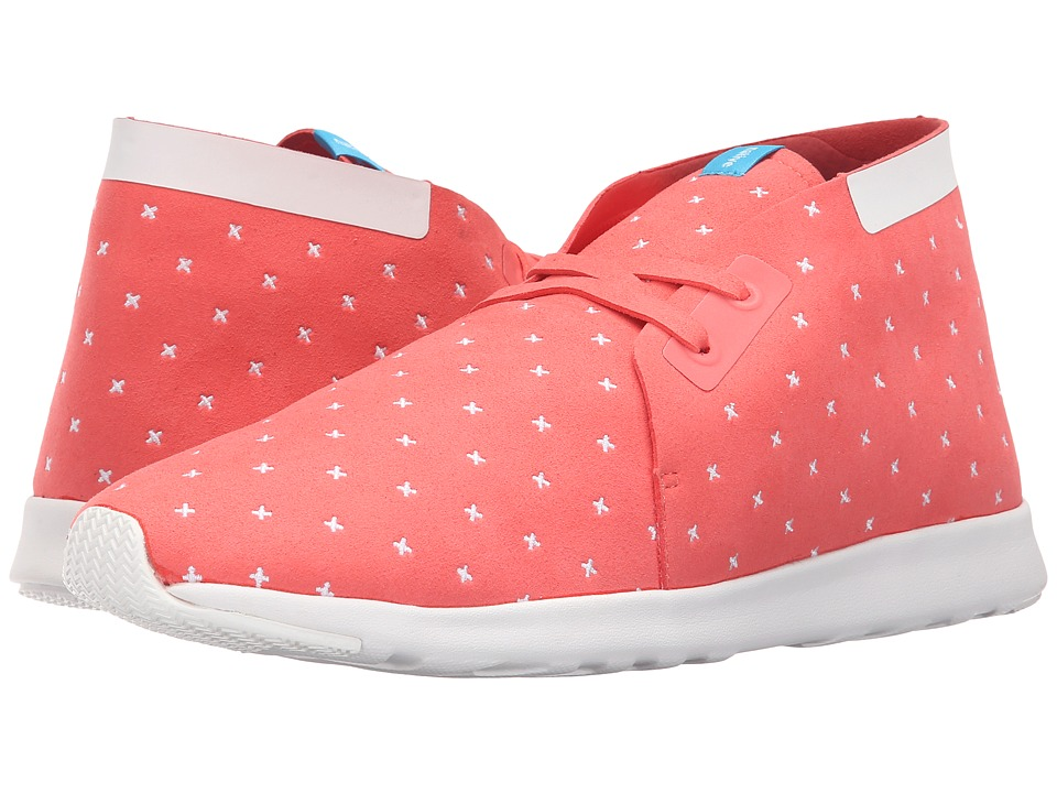 Native Shoes - Embroidered Apollo Chukka (Snapper Red/Shell White/Shell Rubber/Embroidered) Slip on Shoes