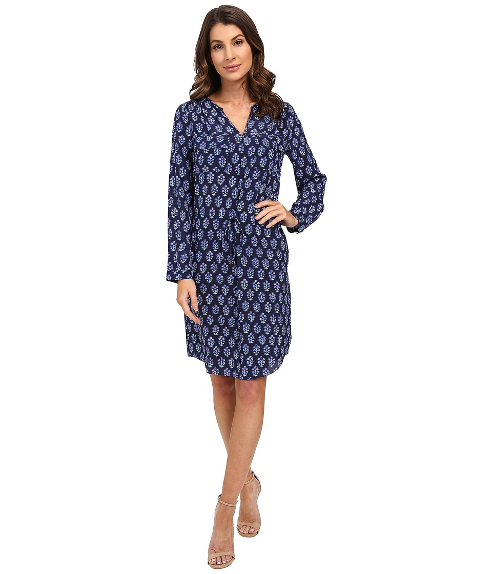 Rebecca Taylor - Long Sleeve Valentina Dress (Indigo) Women's Dress