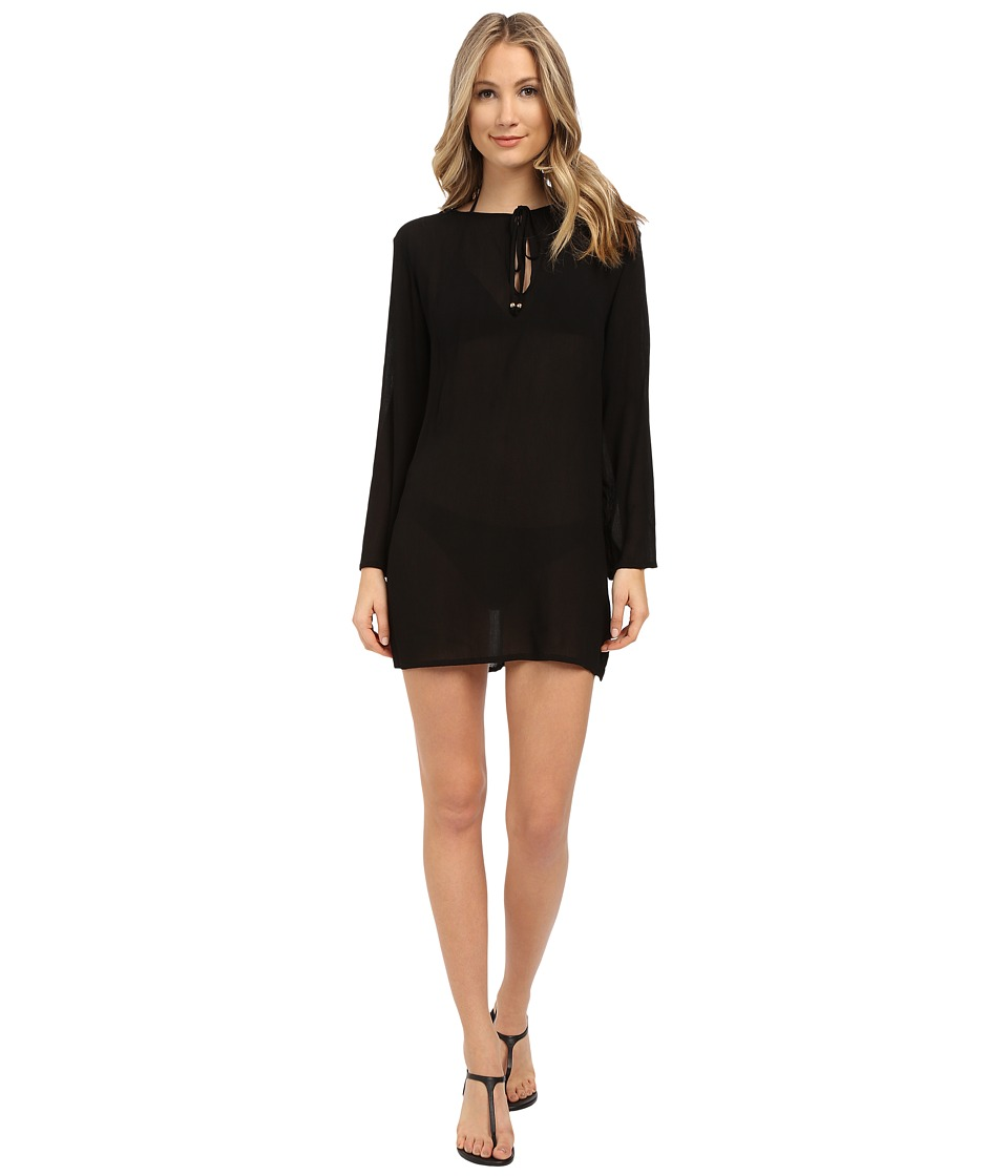 Athena - Cabana Solids Tunic Cover-Up (Black) Women's Swimwear