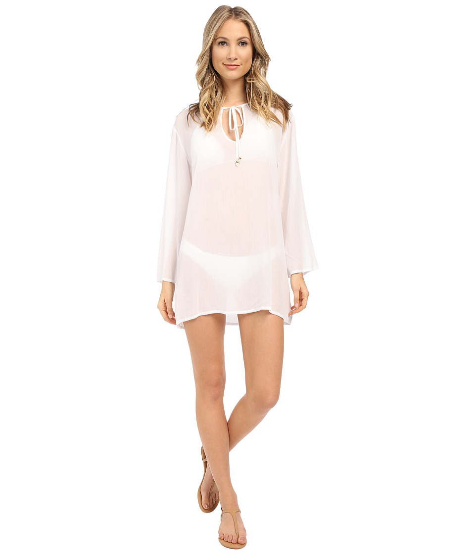 Athena - Cabana Solids Tunic Cover-Up (White) Women's Swimwear