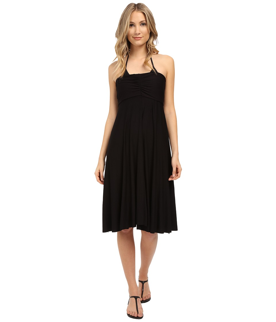 Athena Cabana Solids Multi Dress Cover-Up (Black) Women
