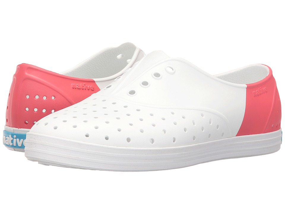 Native Shoes - Jericho (Shell White/Shell White/Snapper Red Block) Women's Shoes