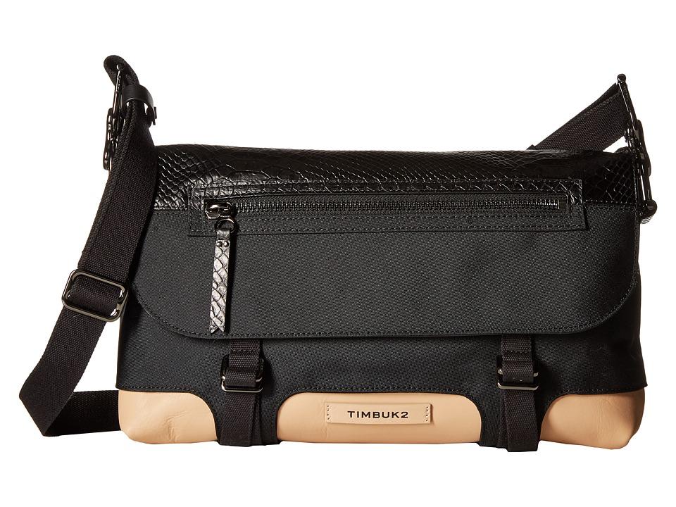Timbuk2 - Femme Messenger Demi (Black/Tan) Messenger Bags