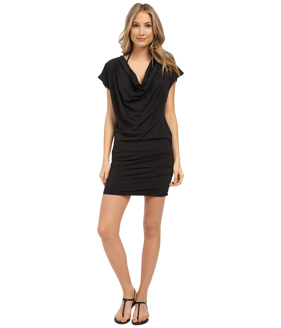 Athena - Bali Bound Dress Cover-Up (Black) Women's Swimwear