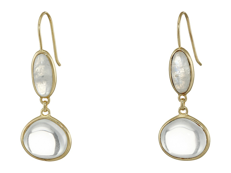 Cole Haan - Semi Precious Doorknocker Earrings (Gold/Rainbow/Crystal) Earring