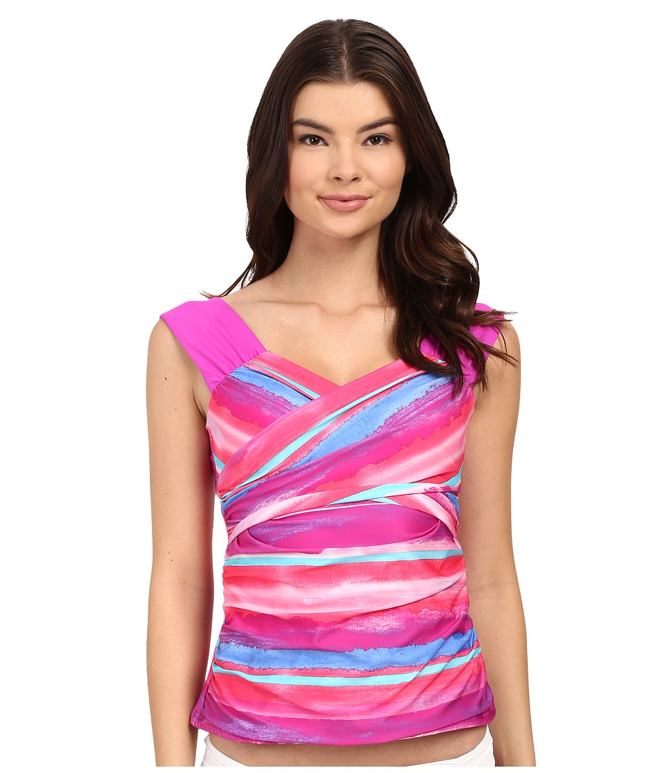 Athena Bermuda Sunrise Tankini Top (Multi) Women