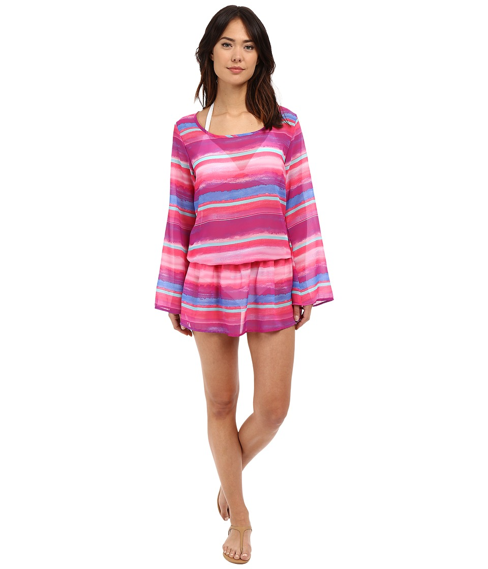Athena Bermuda Sunrise Tunic Cover-Up (Multi) Women
