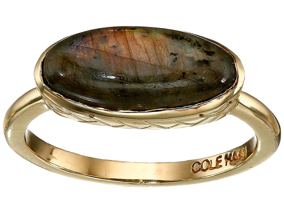 Cole Haan - Basket Weave Oval Semi Precious Ring (Gold/Labradorite) Ring