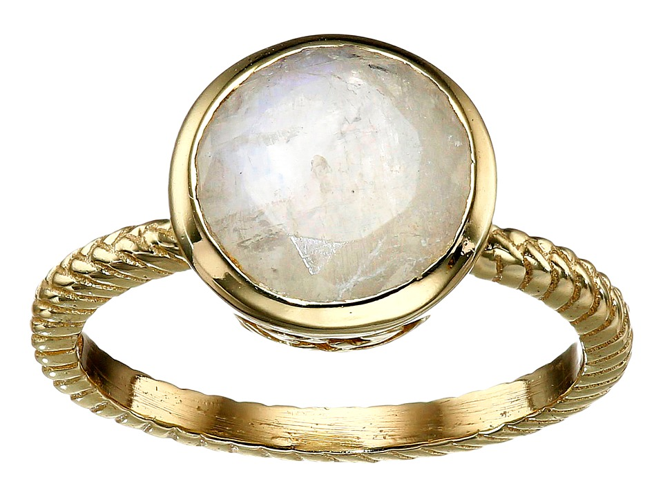 Cole Haan - Brilliant Cut Semi Precious Ring (Gold/Rainbow) Ring