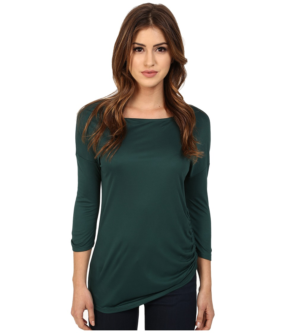 Three Dots - Kylie Long Sleeve Tunic (Eve Green) Women's Blouse
