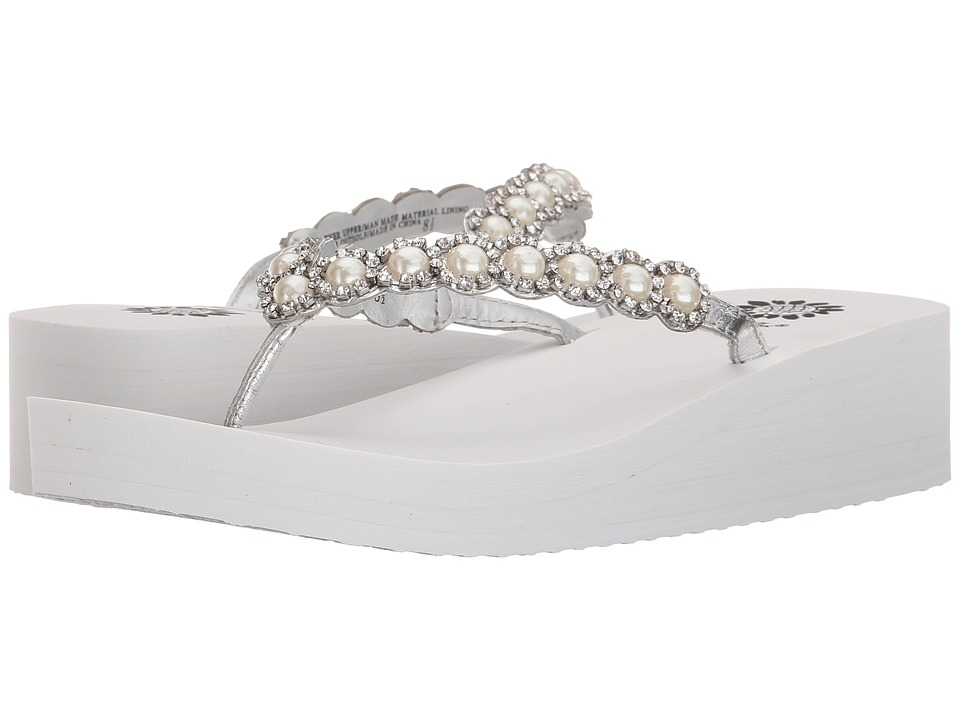 Yellow Box - Edwina (White/Silver) Women's Sandals
