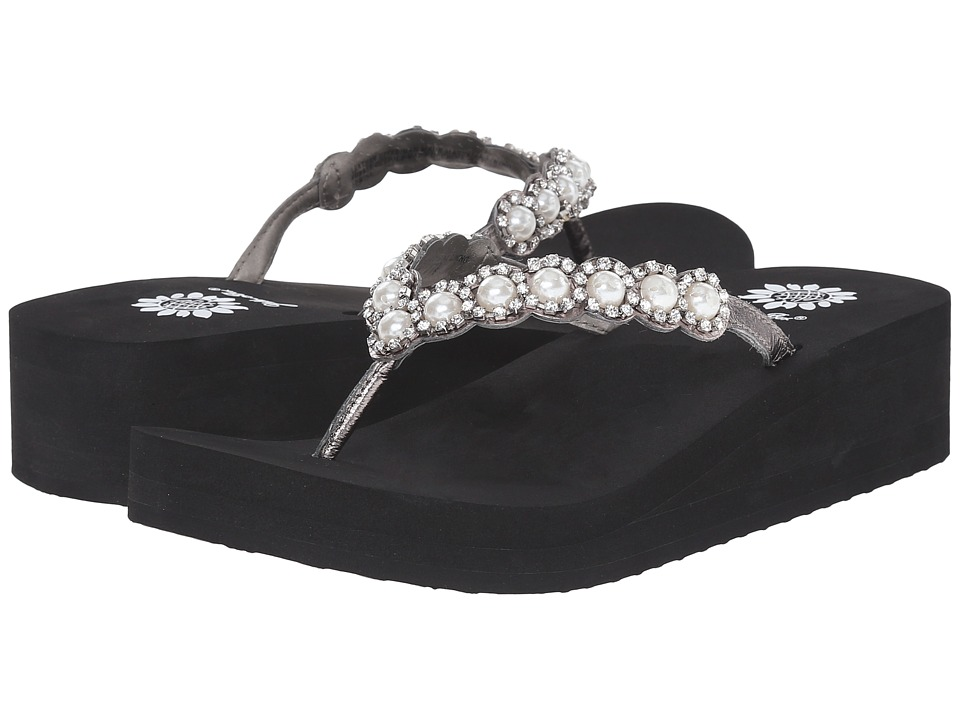 Yellow Box - Edwina (Black/Silver) Women's Sandals