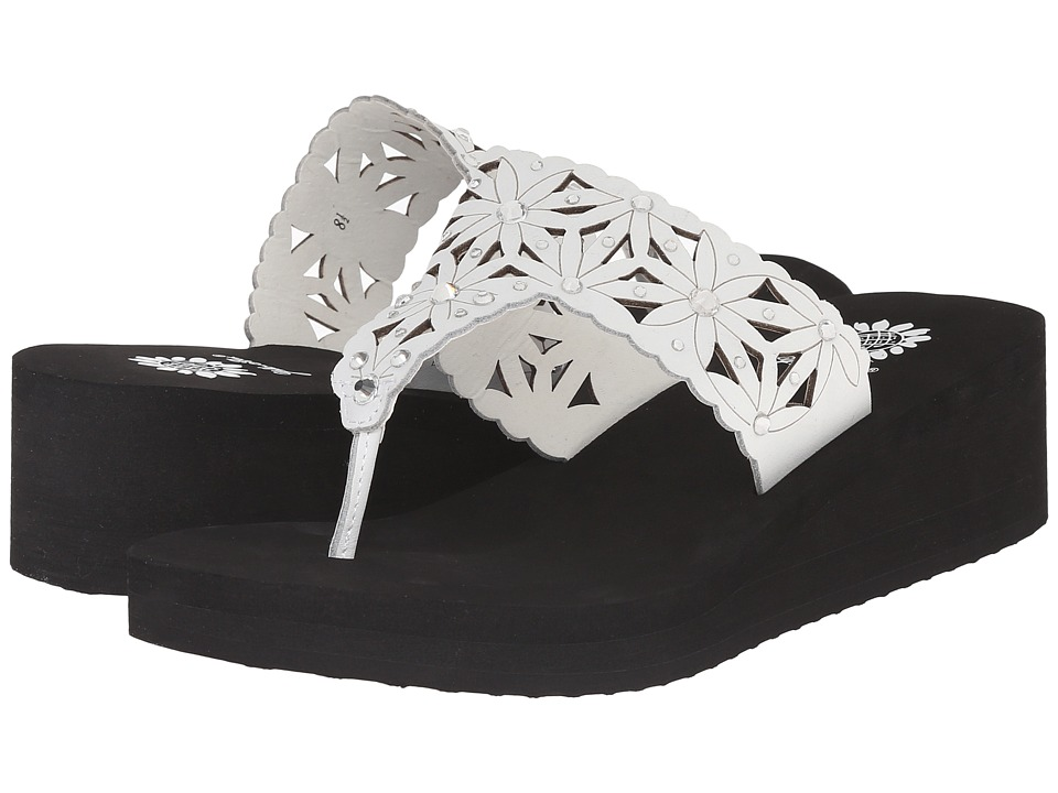 Yellow Box - Pasadena (Black/White) Women's Sandals