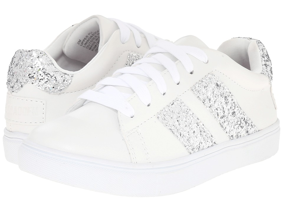 Steve Madden Kids - Jsneaky (Little Kid/Big Kid) (White) Girls Shoes