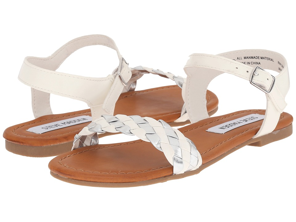 Steve Madden Kids - Jmargin (Little Kid/Big Kid) (White) Girl