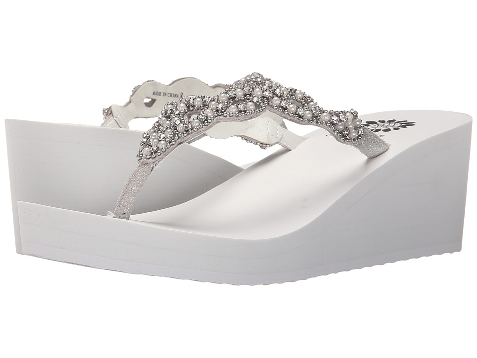 Yellow Box - Sardinia (White) Women's Wedge Shoes
