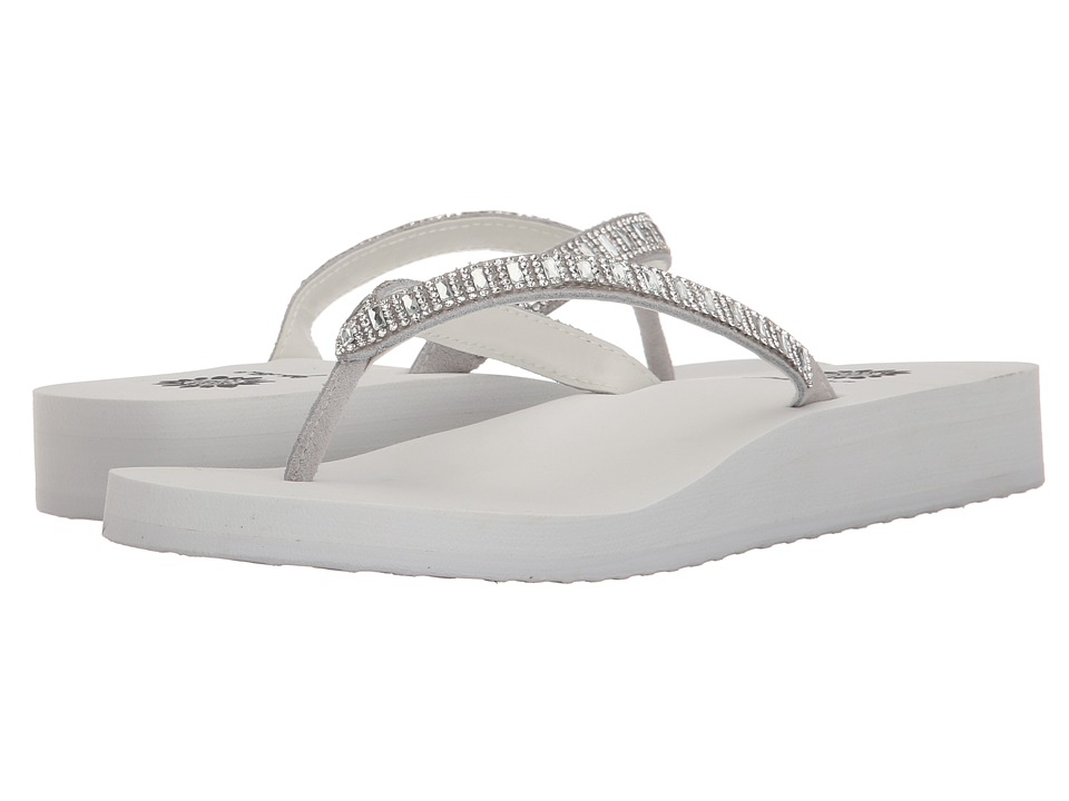 Yellow Box - Zemily (White/Clear) Women's Sandals