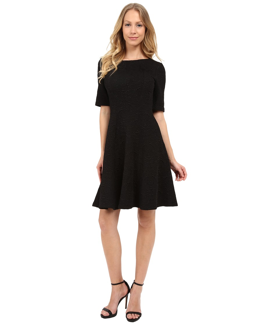 Maggy London - Morris Texture Fit and Flare (Black) Women's Dress