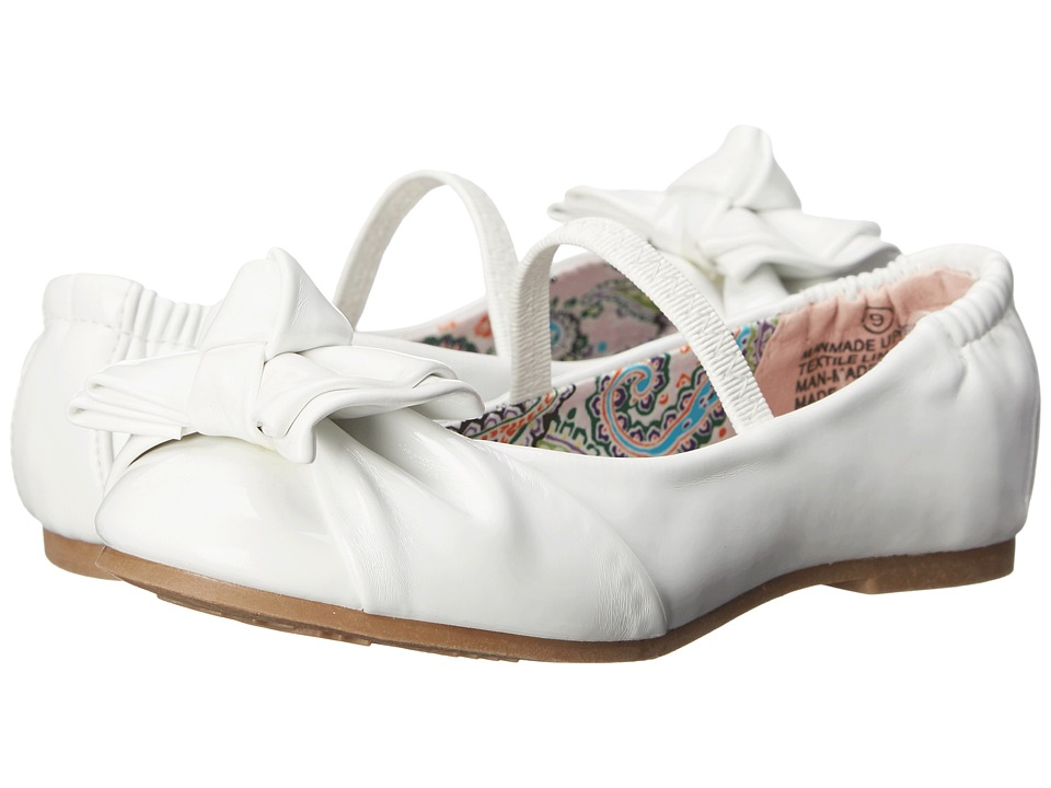 Steve Madden Kids - Tdarling (Toddler/Little Kid) (White Patent) Girl