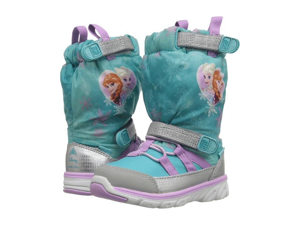 Stride Rite - Frozen Made 2 Play Sneaker Boot (Toddler) (Turquoise Multi) Girls Shoes